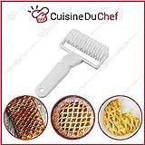 CuisineDuChef Rauten-Roller, Original-Teigschneider, ideal für Tarte, Pastete, Motiv-Blätterteig, Sprossen-Dekoration, Gitter- und Netz-Roller, zum Backen und Kochen, hochwertig