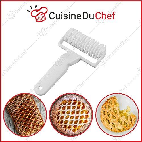 Cuisineduchef - rullo a rombi, tagliapasta originale, ideale per torta, crostate, pasta, decorazioni, rotella a graticcio e rete, per pasticceria e cucina, qualità professionale