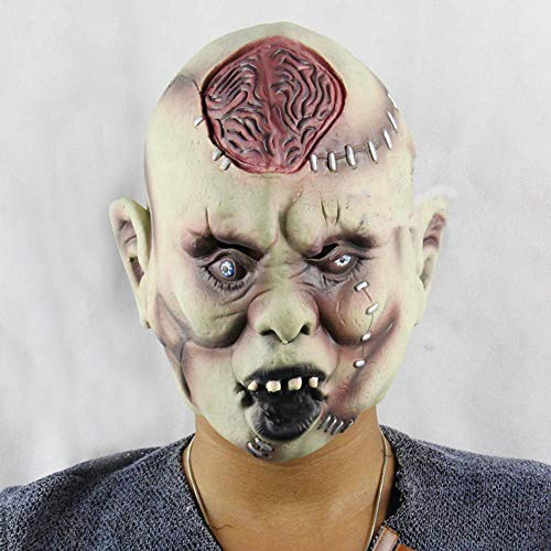 osion Gehirn Mumie Maske Halloween Ball Leistung Requisiten Horror Maske Erwachsene Kinder geistermaske ()