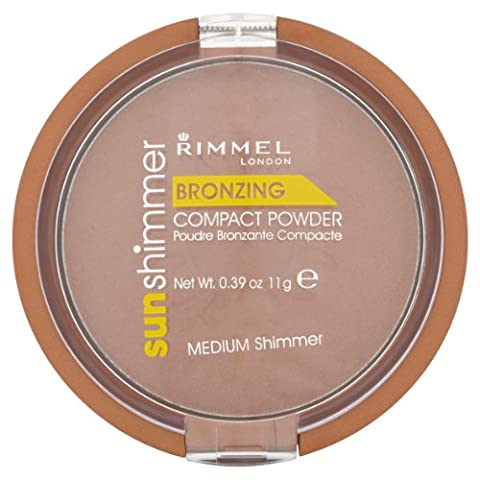 Rimmel Sun Shimmer Bronzing Compact Powder - Medium Shimmer (Fragrance Free Face Balm)