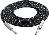Pyle-Pro PCBL1F12 Câble 6,35 mm vers jack 6,35 mm pour guitare et amplificateur 60cm