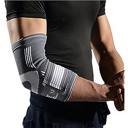 Einstellbare Ellenbogenbandage Liveup SPORTS Kompressions Ellenbogenbandage Mit Klettverschluss - Gezielte Unterstützung für Tennisarm , Tendinitis, Golfarm, Gewichtheben, Arthritis LS5673