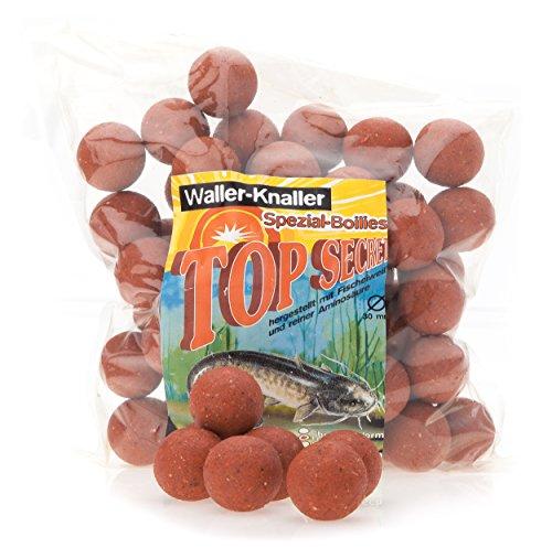 (1)Top-Secret Waller-Knaller Waller-BoilieSorte Blut-Leber, ø 30mm, Inhalt 1kg