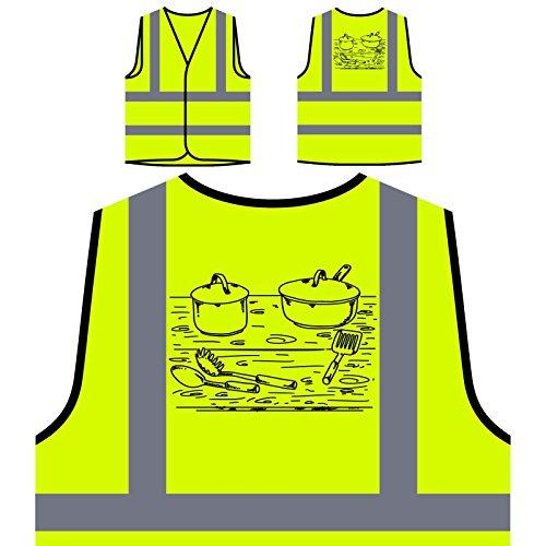 Küchenelemente Personalisierte High Visibility Gelbe Sicherheitsjacke Weste r123v