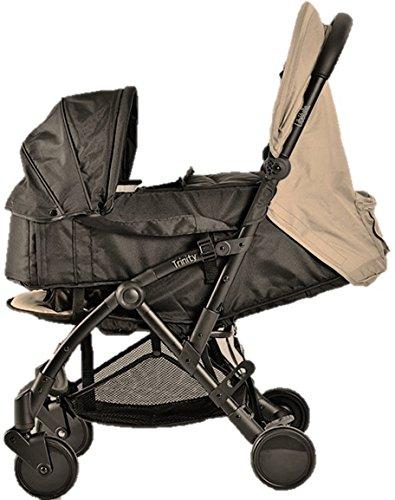 Pack Duo Nacelle Trinity 2 Kinderwagen, ultraleicht, 5,5kg, ultrakompakt, Transporttasche, Flugzeug, leicht, 2 kg, zusammenklappbar, 0/9 kg (Dark Beige Taupe)