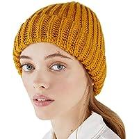 Shenzuyang Sombrero de señoras de Sombrero Sombrero de Punto otoño e Invierno al Aire Libre Serie 100% Material acrílico Combinado con una Exquisita Textura de Punto (Color : Orange, Size : M)