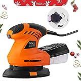 [Regalo di Natale] Levigatrice Mouse, Piastra di Levigatura Rotante a 360°, Tacklife 200W...