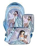 Depesche Fantasy Model Set Schulrucksack Iceprincess Federtasche und Sporttasche