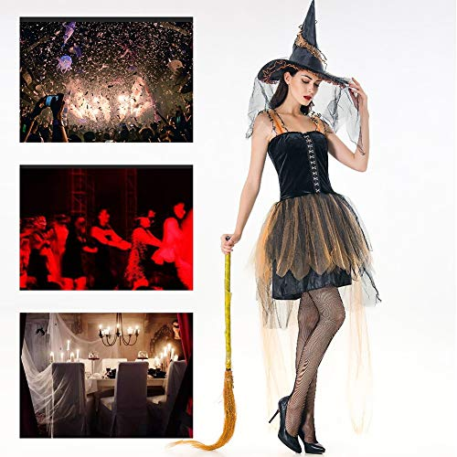 Witwe Schwarze Kostüm Sexy Spinne - JH&MM Halloween Kostüm Damen Sexy Mesh Hexen Set Cosplay Maskerade Kostüm