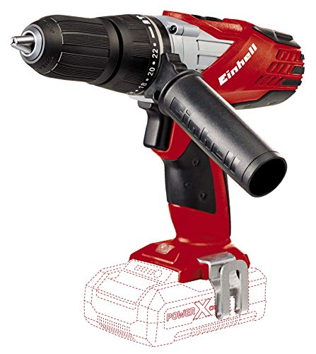 Einhell System Taladro percutor sin cable 2 velocidades, 48 Nm, luz led, Power-X-Change, 12 W, 18...