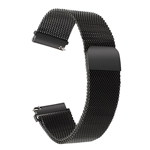 Samsung Gear S3 Frontier / Classic Armband von TRUMiRR, 22mm Uhrenarmband, Milanese Loop-Uhrenarmband -Magnetic Lock-Bügel für Samsung Gear S3 Frontier / Classic, Samsung Gear 2 Neo Live, Huawei Watch 2 Classic, LG G Watch, MOTO 360 2nd 46MM, Asus ZenWatch 1 2 Männer, Pebble Time, Vector, Xiaomi Amazfit Live-kundenservice