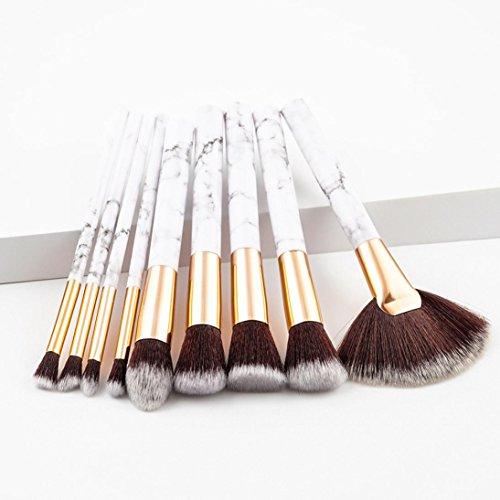 Pinceaux de Maquillage,Bekoard Cosmétique Sourcils Pinceau Maquillage Brosse Kits Outils (Blanc)
