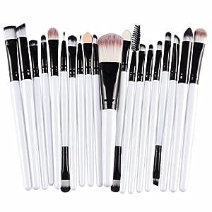 Hosaire Maquillaje Pro 20pcs Pinceles Set delineador de Ojos Sombra de Ojos Labios Polvo Fundación Cepillo Negro