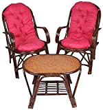 A&E Brown Table and Chair Set made of Ra...