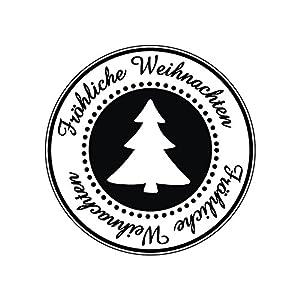 28862000 Stempel Fröhliche Weihnachten , 3cm ø