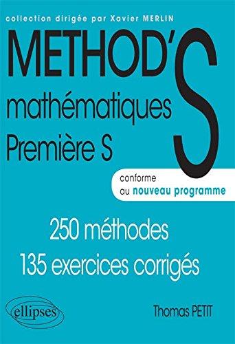 Mathématiques Méthod'S Première S Conforme au Programme 2011