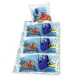 Herding 4622302050 Disney's Findet Dorie Bettwäsche, Baumwolle, Blau, 135 x 200 cm