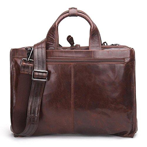Hommes Véritable Cuir Porte-Documents Ordinateur Portable Business Bureau Épaule Sacs À Main Messenger Bag Convient 15 Pouces