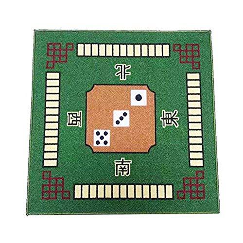 Juego Mahjong Estera La Cubierta Tabla PañO La Estera Tabla Mahjong Antideslizante Cubierta La Mesa Cuadrada para El Juego Fiesta Familiar Poker Domino Tile Mahjong (78Cm X 78Cm),Green