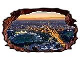 3D Wandtattoo München Skyline Stadt Wandbild Wandsticker selbstklebend Wandmotiv Wohnzimmer Wand Aufkleber 11E670, Wandbild Größe E:98cmx58cm