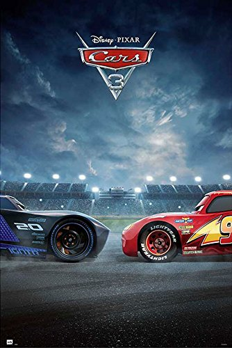 Disney Cars - 3 - Duell - Film Kino Movie Poster Plakat Druck - Größe 61x91,5 cm + 2 St Posterleisten Kunststoff 62 cm transparent (Cars 2 Movie Poster)