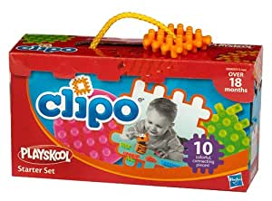 Playskool - 93761483 - Jouet Premier Age - Jeu de Construction - Clipo Petite Boite - 10 pièces