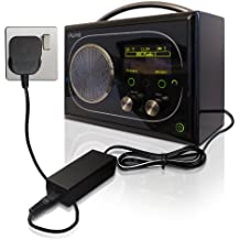 ABC Products® Replacement Pure DAB Digital Radio 6V / 6 Volt Ac Mains Battery Charger Adapter Adaptor Power Supply Cord 60992 / KSAD0600200W1UV-1 / KSAD0600240W1UK for Pure Evoke-1S, Evoke-1S Marshall, Evoke Flow, Evoke Mio Clementine Orla Kiely, Buttercup, Evoke Mio Union Jack, Stem Print, Tempus-1S etc