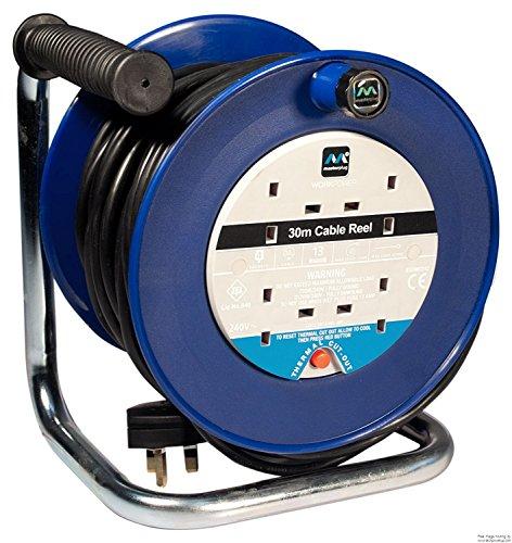 Masterplug, bobina di cavo, 30 m, 4 prese da 13 a, con taglio termico e pulsante di ripristino, ldcc3013/4bl confezione originale