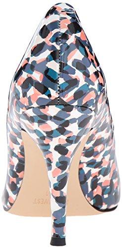 Nine West Lino pompa Dress sintetico Blue/Multi