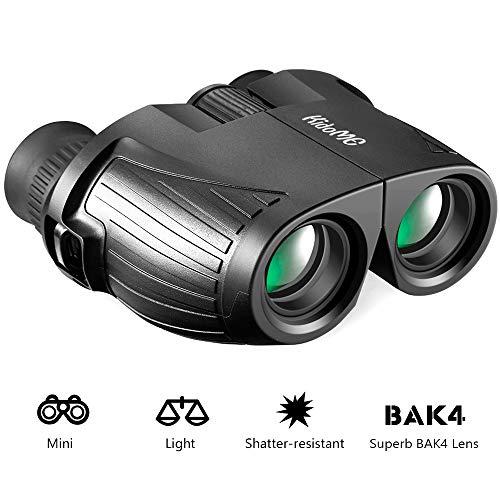 KidoME 10x25 HD Prismaticos Ligeros Portátiles Regalos para Niño Mini Compacto Binoculares con Visión...