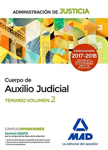 Cuerpo de Auxilio Judicial de la Administración de Justicia. Temario. Volumen 2 por Francisco Enrique Rodríguez Rivera