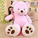 Riesen Teddybär Plüsch Teddy Bärenfell DIY Freundin Geschenk Bär Spielzeug Geburtstagsfeier Puppe Haut 100 cm Bär ROSA