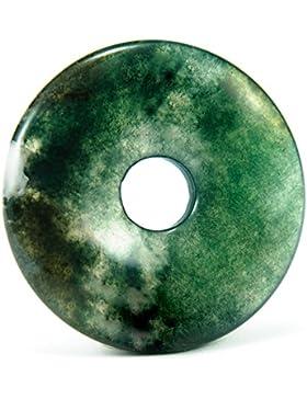Donut Moosachat (40mm) Anhänger Mineralstein