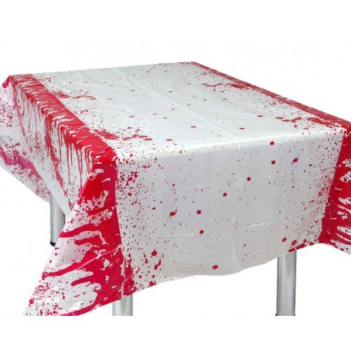 Table Cover Bloody on White - White Cleopatra Kostüm