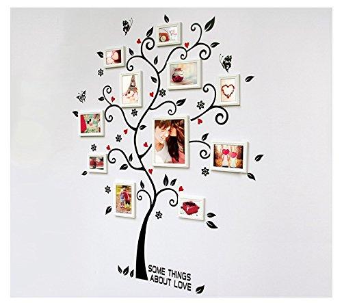 Stickers muraux d'arbres papillon oiseaux amovible décoration murale pour Photo peinture
