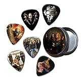 Megadeth Set of 6 Loose Guitar Médiators in Tin ( Collection B )