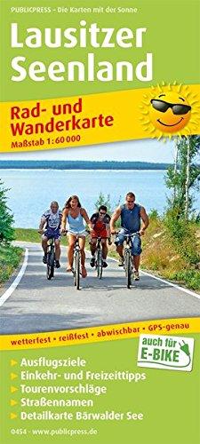Lausitzer Seenland: Rad- und Wanderkarte mit Ausflugszielen, Einkehr- & Freizeittipps, wetterfest, reissfest, abwischbar, GPS-genau. 1:60000 (Rad- und Wanderkarte / RuWK)