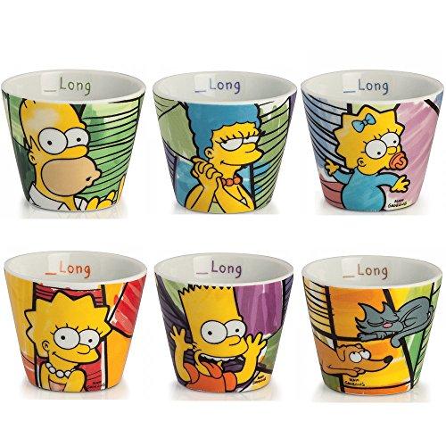 Set 6 bicchierini caffè/limoncello I Simpson/Egan confezione regalo