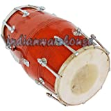 Sai Musical Dholak Drums 18 Bolt Tuned Made With Mango Wood Dholki For Bhajan Kirtan Mantra~Free Cover.