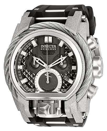 Invicta Men's Reserve Black Steel Bracelet & Case Swiss Quartz Watch 26446