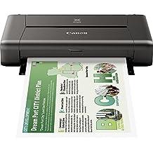 Canon PIXMA iP110 - Impresora de tinta portátil (9.600 x 2.400 dpi, USB, WLAN, Pixma Cloud-Link, Apple AirPrint), negro