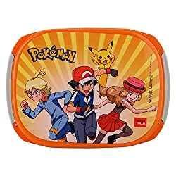Jaypee Plus Story Box Jr. Plastic Lunch Box Set, 4-Pieces, Orange