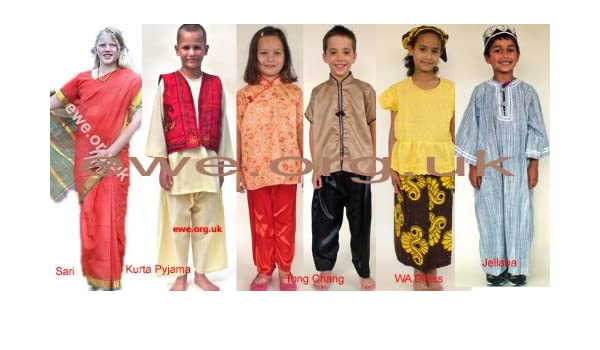 dd21e6b6ab8 Multicultural Dressing-Up Costumes-Assorted Ethnic Costumes: Amazon ...