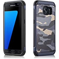 JAMMYLIZARD | Cover custodia Heavy Duty ARMY in TPU per Samsung Galaxy S7 Edge, (Army Camouflage Pattern)