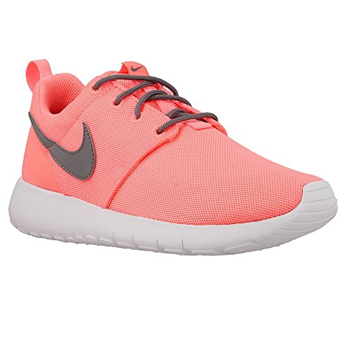 Nike Roshe Run, Chaussures de running fille Lava Glow/Cool Grey-white