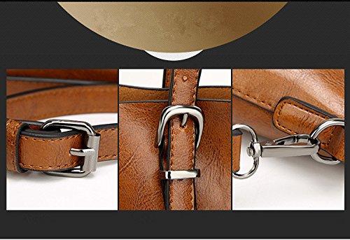 Borsa a tracolla di modo retro di acquisto della borsa di cuoio dellunità di elaborazione portatile delle donne 32 * 12 * 29cm Verde