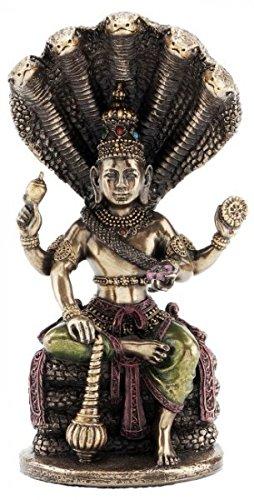 Unbekannt Figur des Vishnu indischer Gott der Sonne bronziert Hinduismus Statue Indien