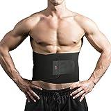 Bauchweggürtel, SGODDE Multifunktional Fitnessgürtel, Verstellbarer Schwitzgürtel Rückenbandage mit Stabilisierungsstäben, Einstellbare Bauchgürtel für Damen und Herren, Lendenwirbelstütze für Sport Fitness Training Schmerzlindernd, zur Unterstützung und Wärmehaltung Alltag und Sport