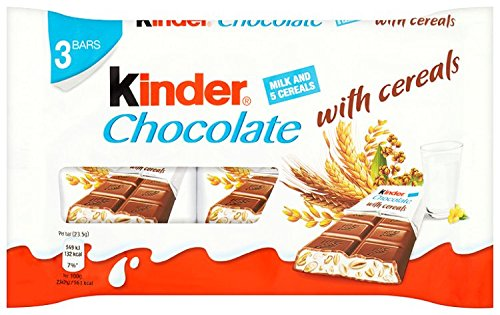 Kinder Chocolate with Cereals 94 g (Pack of 8): Amazon.co.uk: Grocery