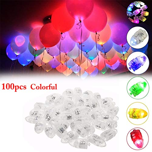 LED Ballons Lichter, Funpa Led Luftballons Blinker Mini LED Ballons Beleuchtung Party Lichter für Ballon Papierlaternen Party Dekoration Hochzeit Blumen Halloween Weihnachten Dekoration (100 Stück/mehrfarbig)